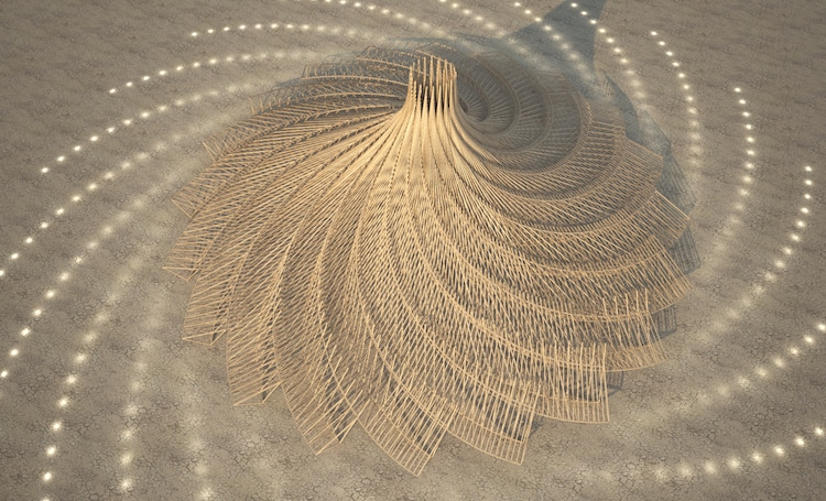 Burning Man Selects Giant Spiraling Temple Design for 2018