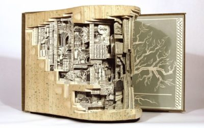 Brian Dettmer Creates Sculpture from Old Books: videos & gallery