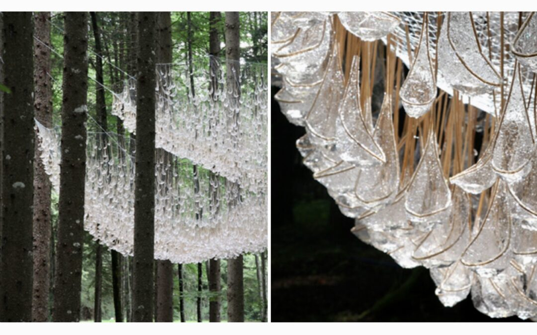 A Giant Chandelier in the Forest Made From Raindrops: Artist, John Grade/RESERVOIR